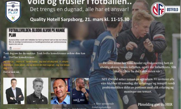 Vold og trusler i fotballen.. Det trengs en dugnad, alle har et ansvar!
